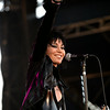 Rock Star Joan Jett smiles as the crowd as she  performs with her band at  the Minnesota State Fair on September 1, 2014. (Pioneer Press: Sherri LaRose-Chiglo)
