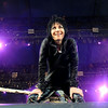 """Rock Star Joan Jett listens for the crowd to sing """"Do you wanna touch me there"""" during her performance  at  the Minnesota State Fair on September 1, 2014. (Pioneer Press: Sherri LaRose-Chiglo)"""