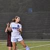 Leominster's Nicole Boyson heads the ball during the game against Shepherd Hill on Thursday evening. SENTINEL & ENTERPRISE / Ashley Green