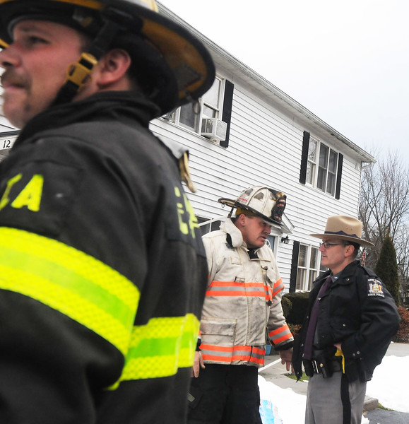 Firefighters from Lakeville, Livonia, Hemlock East Avon and Geneseo made a good stop on a structure fire at an Apartment building holding it to just one of the units.