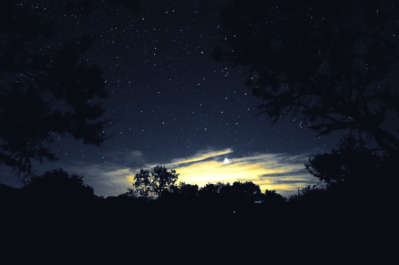 Night sky on the Frio River
