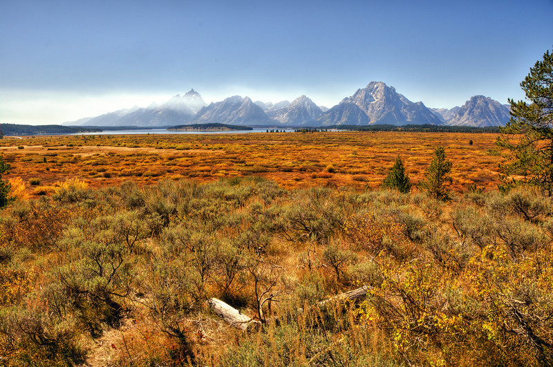 Grand Teton range from the Jackson Lake Lodge overlook