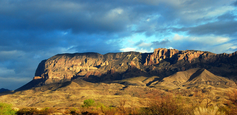 Chisos Mountains in the late afternoon sun