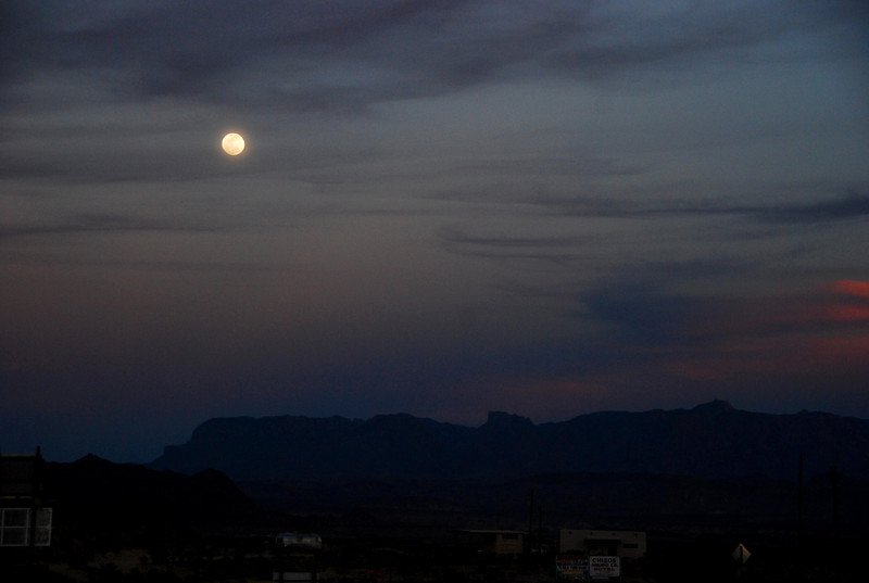 Moonrise in Terlingua