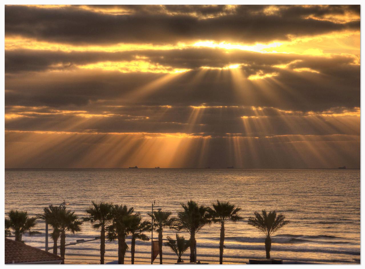 Sunrise on Galveston Beach