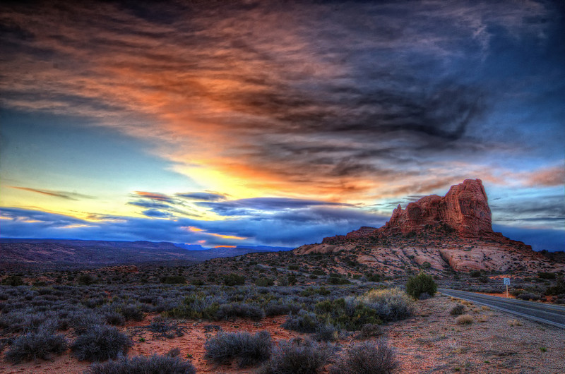 Sunrise in Arches National Park