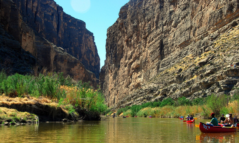 Canoeing in Santa Elena Canyon