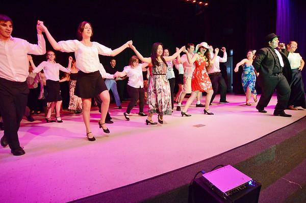 Lunenburg High 'Guys and Dolls' rehearsal