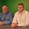 On left, Mike Cooley, the host of Cool Talk at Leominster Access Television, with friend and Army veteran John Churcher. SENTINEL & ENTERPRISE/ ASHLEY LUCENTE