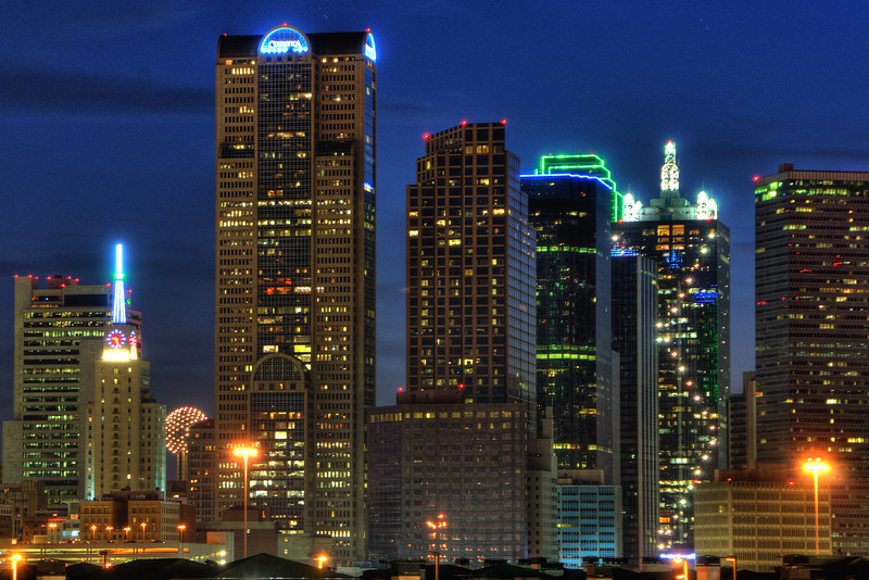 Dallas Eastern Skyline featuring the Mercantile