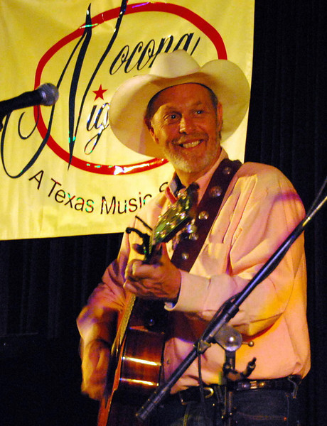 Michael Hearne performing at the 2nd to last concert of the 2008 Nocona Nights season