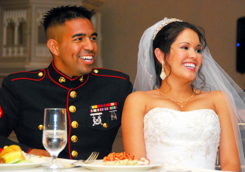 Frank and Mariza at wedding reception