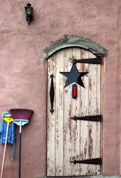 The kitchen door