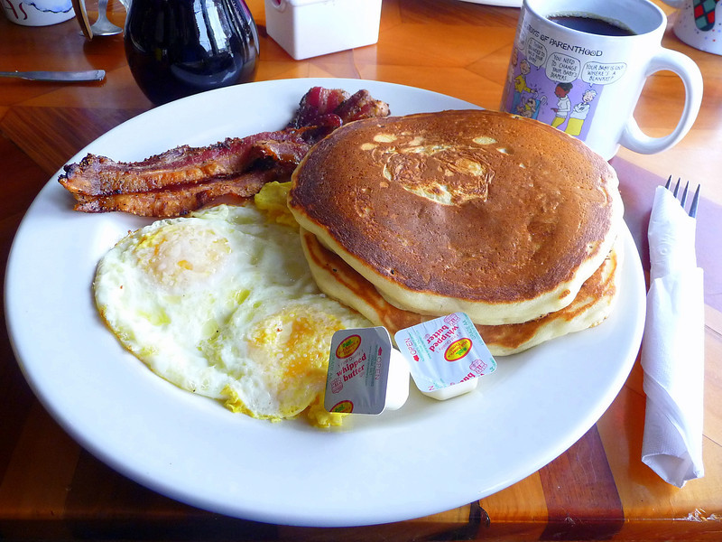 My standard vacation breakfast