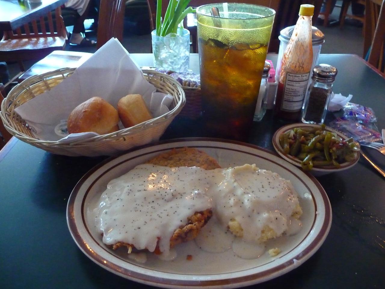 Chicken fried steak at Po Melvin's, Irving, TX