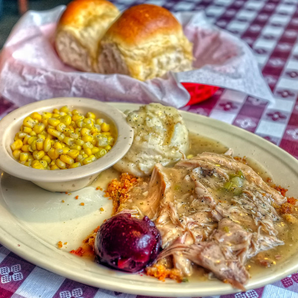 Turkey and dressing lunch special