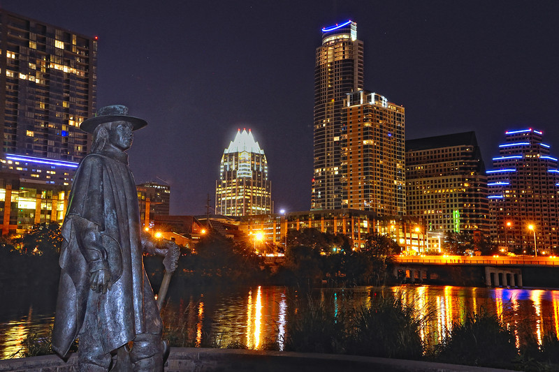 In the live music capital of the world, Stevie Ray keeps watch