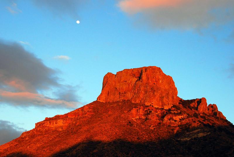 Moon rising over Casa Grande