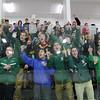 After winning Nashoba Regional High School Hockey Fans cheered for their team. SENTINEL & ENTERPRISE/JOHN LOVE