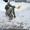 Members of the National Guard assisted the Leominster Fire Department in digging out fire hydrants on Wednesday afternoon. SENTINEL & ENTERPRISE / Ashley Green
