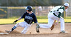 Bob Raines--Montgomery Media<br /> North Penn's Ryan Bealer steals second as the throw gets by Lansdale Catholic shortstop John Borkowski May 8, 2015.