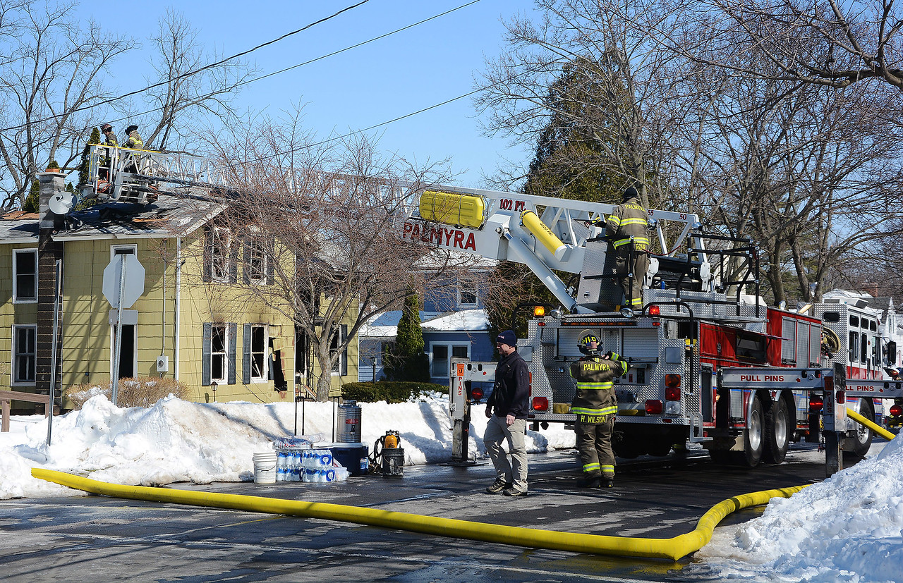[Jack Haley/Messenger Post Media]<br /> Several fire department's responded along with Palmyra for a house fire this morning on West Jackson Street.
