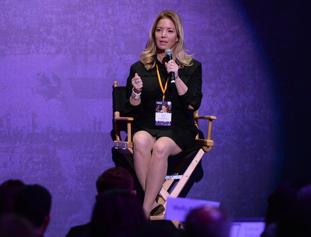 . Los Angeles Lakers Team President Jeanie Buss, during The Los Angeles Sports & Entertainment Commission (LASEC) 13th annual LAKERS ALL-ACCESS, at the Staples Center.   Los Angeles  Calif., Monday, February ,27, 2017.            ( Photo by Stephen Carr / Daily News / SCNG )