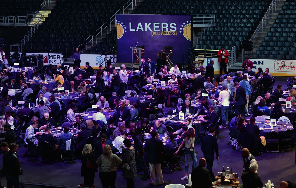 . The Los Angeles Sports & Entertainment Commission (LASEC) 13th annual LAKERS ALL-ACCESS, at the Staples Center.   Los Angeles  Calif., Monday, February ,27, 2017.            ( Photo by Stephen Carr / Daily News / SCNG )