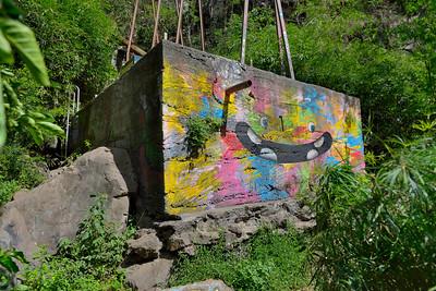 Graffiti à l'île de La Réunion