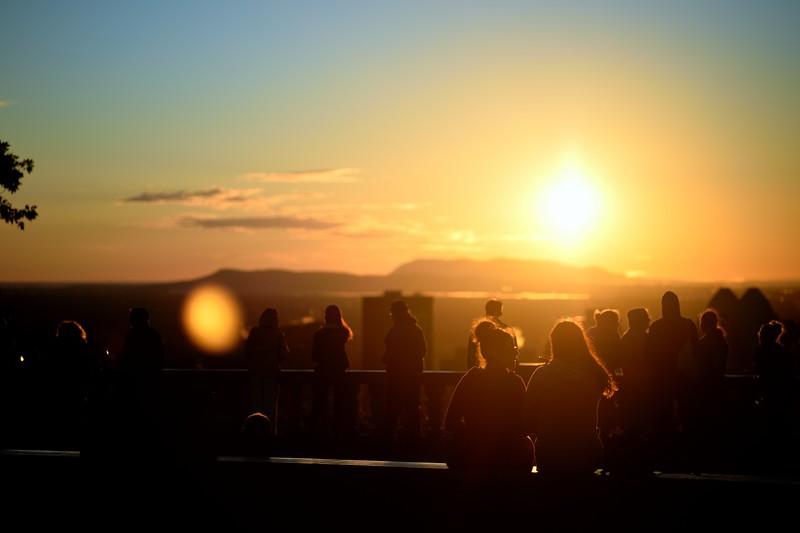 Levé de soleil au Mont Royal
