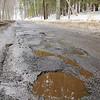 Potholes on Nichols Street in Fitchburg.SENTINEL & ENTERPRISE/JOHN LOVE