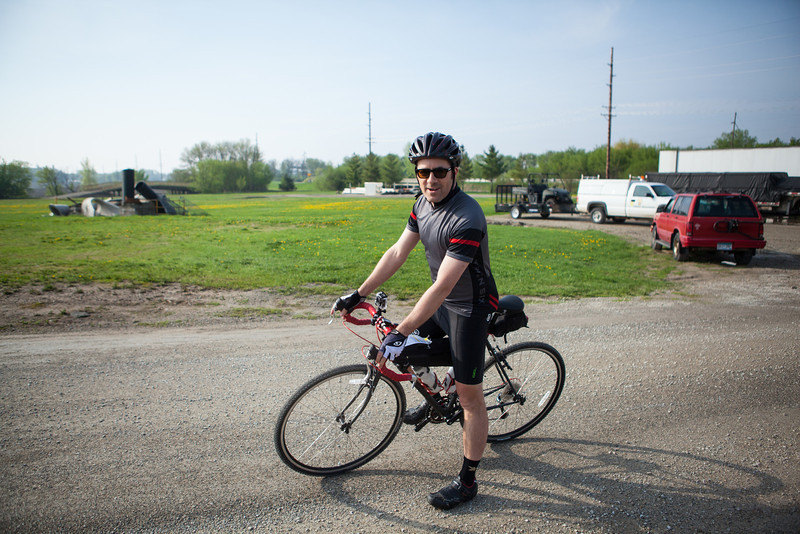 Peter Ready to Ride the Almanzo