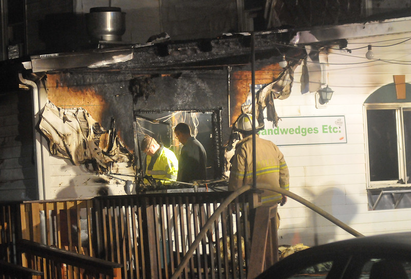 (Jack Haley/Messenger Post Media)<br /> The fire was early Tuesday morning and centered in the kitchen area of Deusy's.<br /> <br /> .