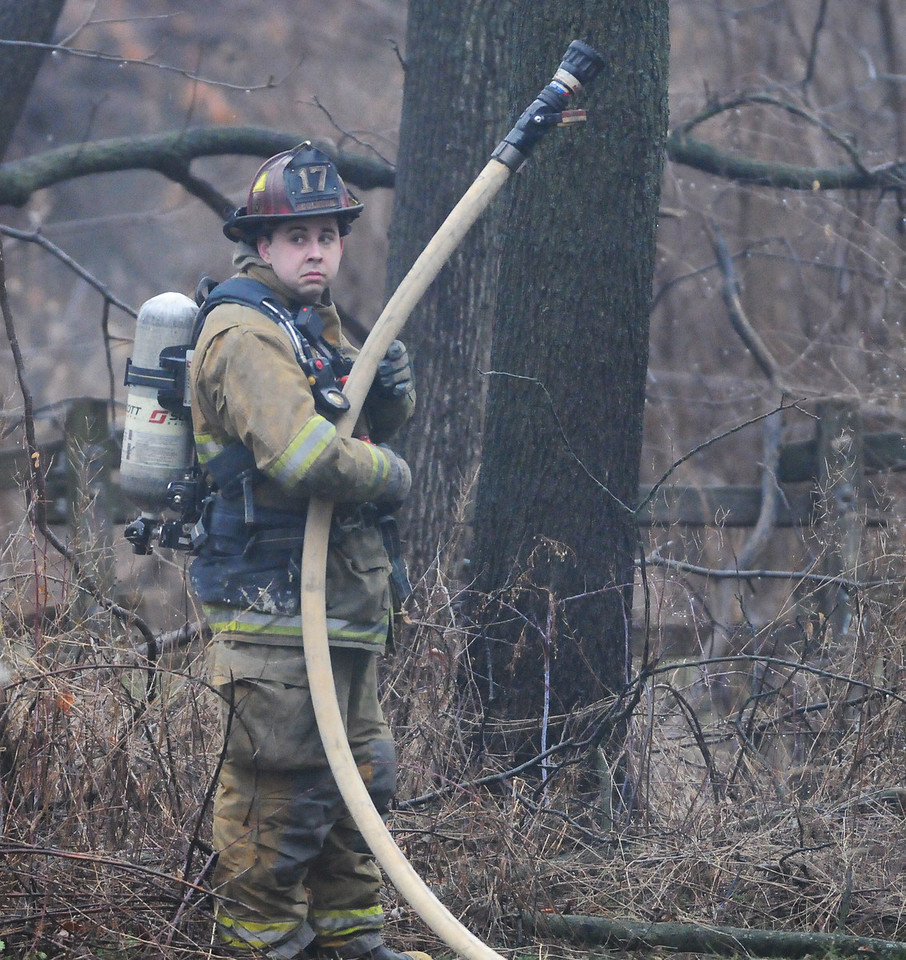 Jack Haley/Messenger Post Media<br /> Firefighters from Manchester and Shortsville were dispatched to a house on the Corner of Route 21 and Johnson  Road with multiple calls of smoke showing. Clifton Springs also arrived on scene of the vacant house.