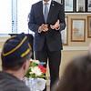 Secretary of Veterans Affairs Francisco Urena speaks at the Leominster Veteran's Center on Wednesday afternoon. SENTINEL & ENTERPRISE / Ashley Green