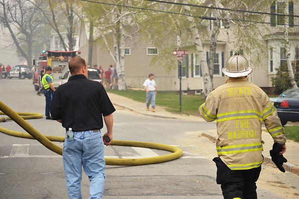 Six alarm fire on Sherman Street in Gardner