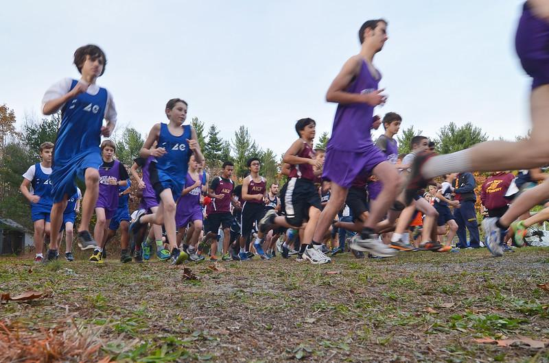 The boys race kicks off on Tuesday afternoon at Saima Park.  SENTINEL & ENTERPRISE / Ashley Green