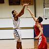 St. Bernard's Tyler Benjamin takes a shot during the game against St. John's on Friday night. SENTINEL & ENTERPRISE / Ashley Green