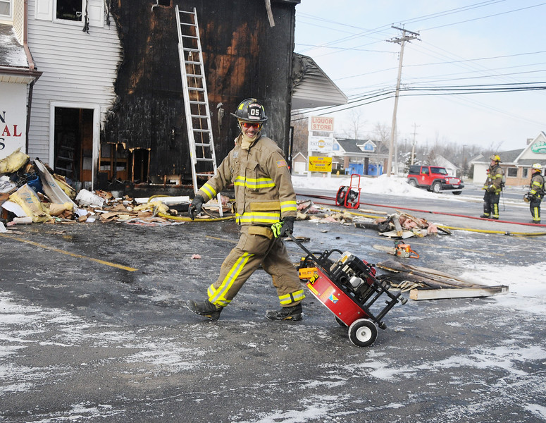 Fire at 255 East Main Street, the Village of Avon, All Seasons Wine & Spirits, Friday February 2, 2018.