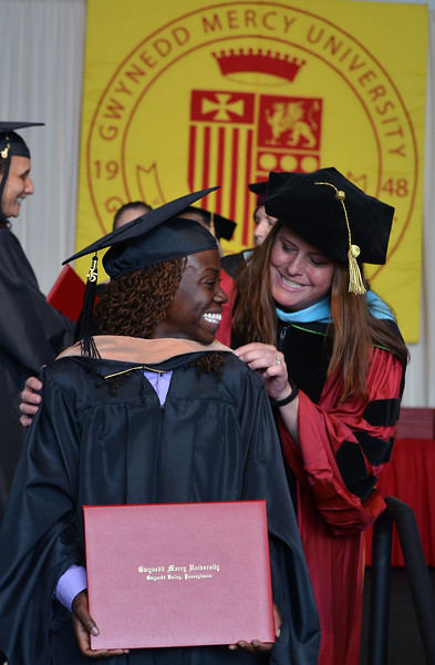 Mark C Psoras--The Reporter<br /> Gwynedd Mercy University Class of 2015 members show their joy as they recieve their degrees during their Commencement Excercises at the university on Saturday May 9,2015.