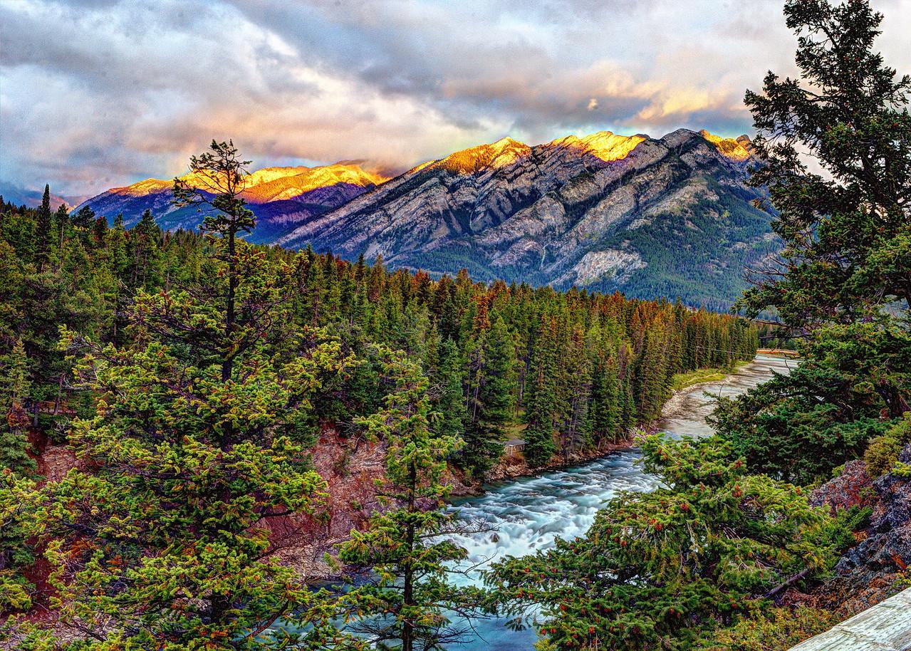Sunrise at Banff Springs