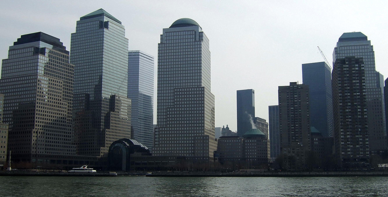 World Trade Center site, from the Hudson River