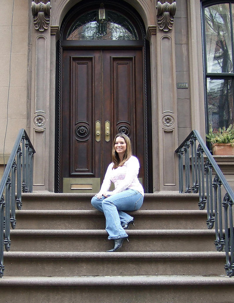 Sitting on _Carrie's stoop_