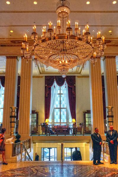 Entrance to the Waldorf Astoria