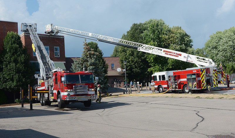 Area Firefighters not only battled a fire on East Main Street in Victor, but also the near 90 degree temperature.