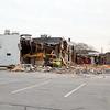 The Weathervane restaurant in Lunenburg came down on Friday. SENTINEL & ENTERPRISE/JOHN LOVE