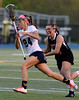 Bob Raines--Montgomery Media / <br /> Wissahickon's Carolyn Wilde sprints for the goal pursed l by Hatboro Horsham's Jenna Cutilli May 4, 2015.