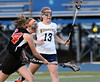 Bob Raines--Montgomery Media<br /> Hatboro Horsham forward Kaitlyn Wallace takes a shot on goal against Wissahickon.