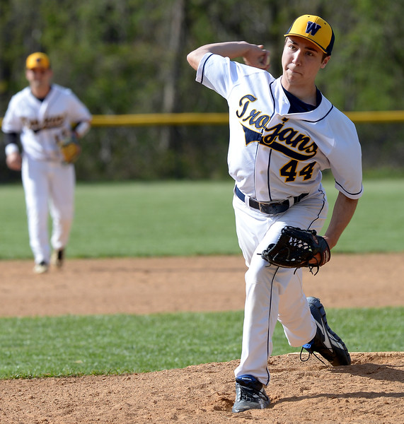 Bob Raines-Montgomery Media<br /> Logan Willans pitches for Wissahickon during a home game with Upper Moreland April 28, 2015.