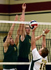Bob Raines--Montgomery Media / Lansdale Catholic vs Archbishop Wood in PCL volleyball championship May 15, 2015.